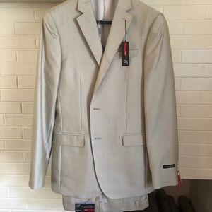 J. Ferrar Khaki Mens Suit